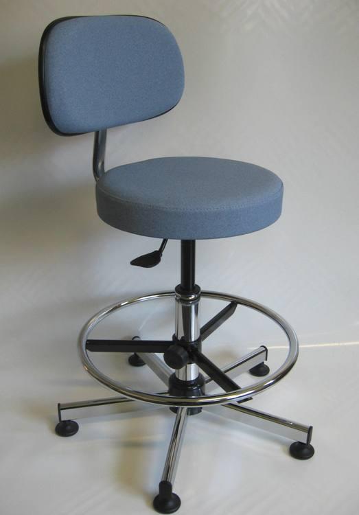 tabourets de laboratoire avec dossier r glable s rie 19d. Black Bedroom Furniture Sets. Home Design Ideas